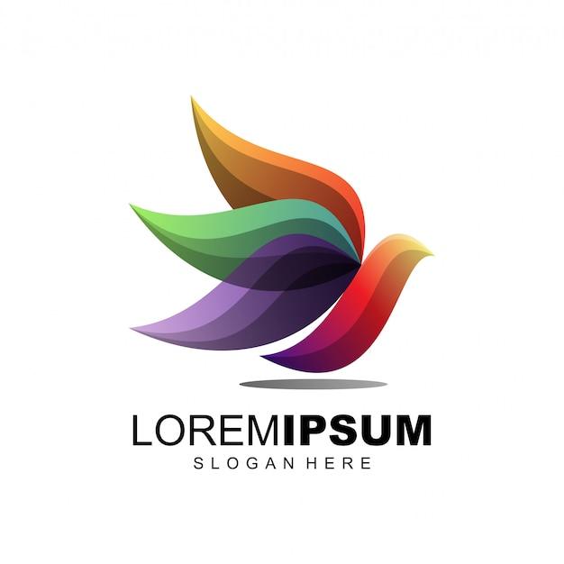 Vogel kleurrijke logo illustratie