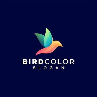Vogel kleurverloop logo ontwerp