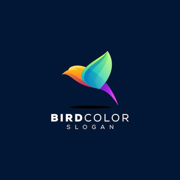 Vogel kleurverloop logo Premium Vector