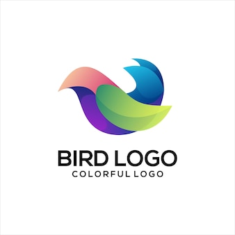 Vogel logo kleurrijke gradiënt abstract