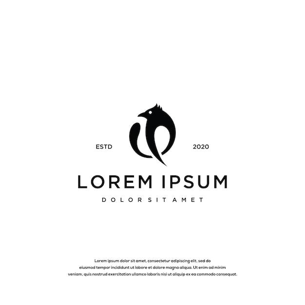 Vogel logo ontwerp tempel