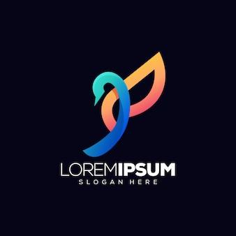 Vogel logo ontwerp vectorillustratie