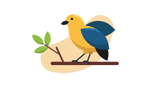 Vogel op een boomtak