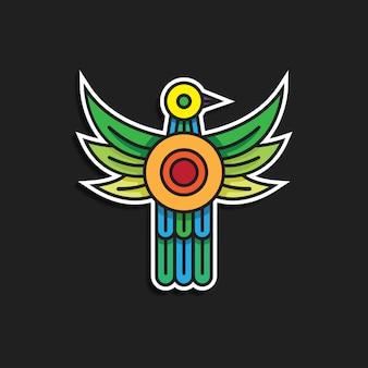 Vogel pictogram sticker karakter