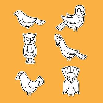 Vogel sticker set