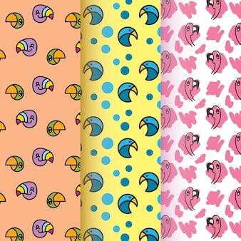 Vogel symbool patroon collectie