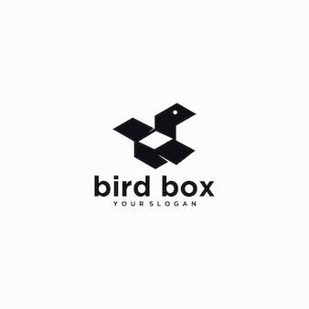 Vogelbox-logo creatief voor referentiebedrijf
