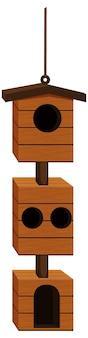 Vogelhuisontwerp met hout