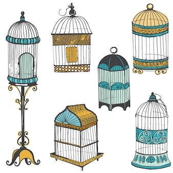 Vogelkooien collectie plakboek