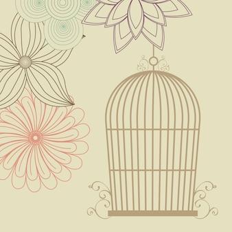 Vogelkooien pictogram.