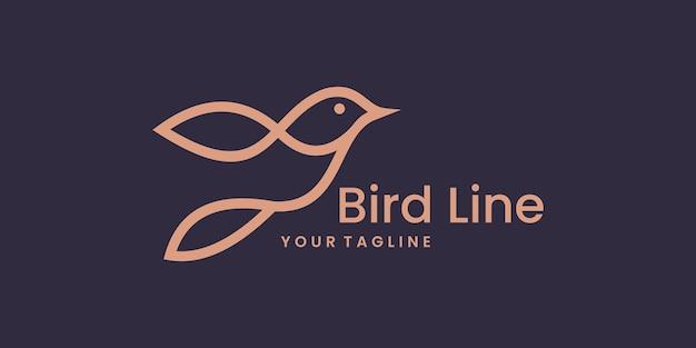Vogellogosjabloon met gouden stijlkleur voor de inspiratie voor het ontwerp van het bedrijfslogo.