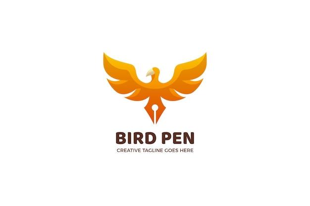 Vogelpen justitie juridische logo sjabloon