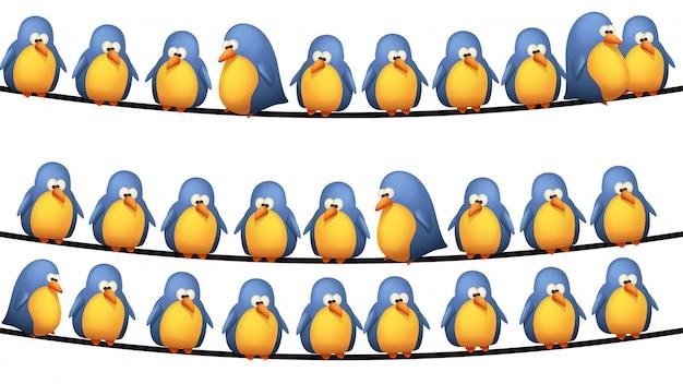 Vogels op draad
