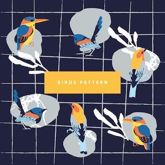 Vogels patroon & abstracte
