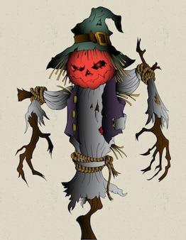 Vogelverschrikker halloween spookachtig