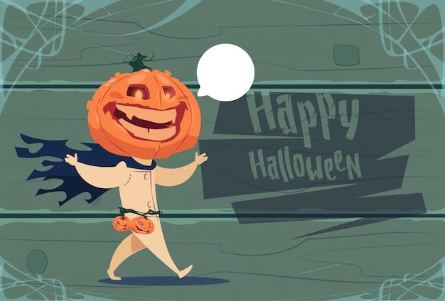 Vogelverschrikker, jack lantern pumpkin happy halloween-de vieringsconcept van de bannerpartij