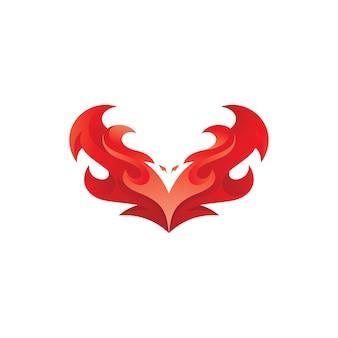 Vogelvleugel fire phoenix-logo