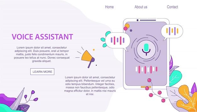 Voice assistant client voor mobiel op android