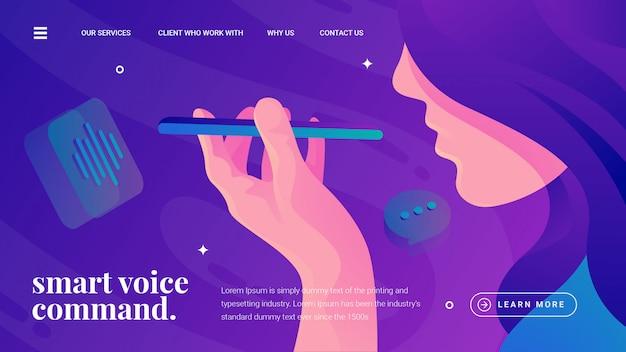 Voice command smartphone