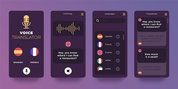 Voice vertaler applicatie