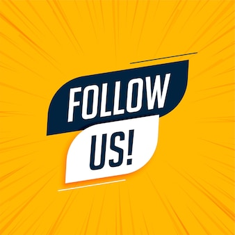 Volg ons moderne social media-banner