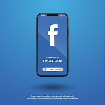 Volg ons op facebook sociale media op mobiel
