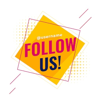 Volg ons sociale media-banner