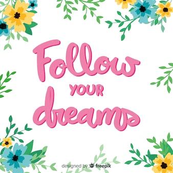 Volg uw dromenbericht met bloemen