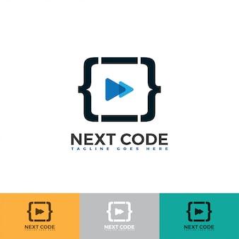 Volgende pictogram met code logo illustratie