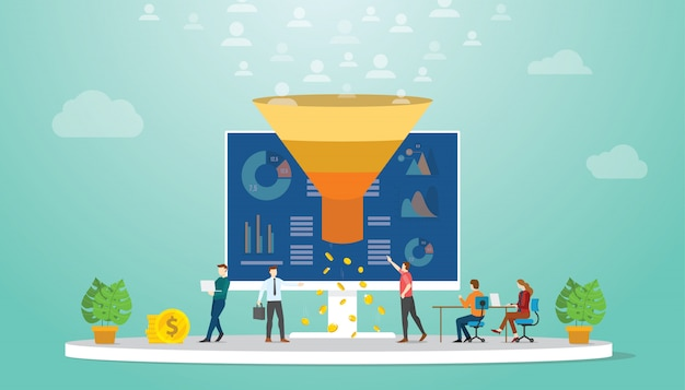 Volgers of gebruikers monetization team marketing strategie concept
