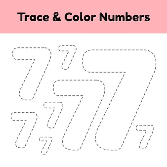 Volglijnnummer voor kleuters en kleuters