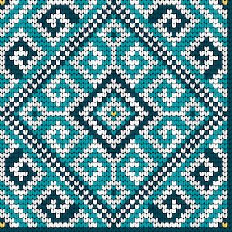 Volks traditioneel breiend naadloos patroon