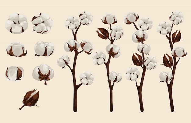 Volledig bewerkbare vector illustratie van bloemen illustraties sets.