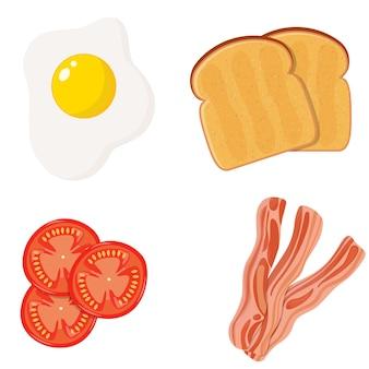 Volledig engels ontbijt 4 hoofdingrediënten