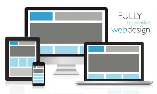 Volledig responsief webontwerp in elektronische apparaten