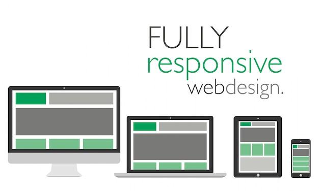 Volledig responsief webontwerp op apparaten