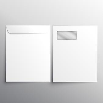 Volledige briefhoofd envelop met fron en achterkant