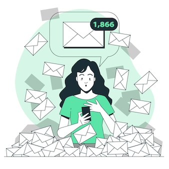 Volledige inbox concept illustratie