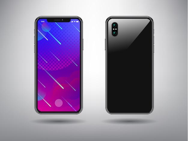 Volledige kleur abstracte achtergrond voor slimme telefoon sjabloon