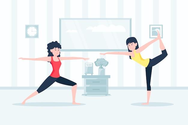 Volledige lichaamstraining binnensport