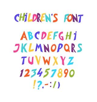 Volledige set van komische lettertype.