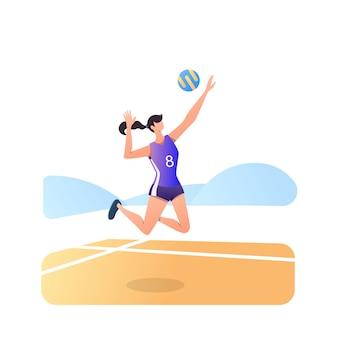 Volley atleet geïsoleerd op wit