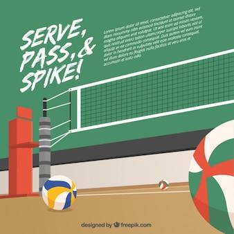 Volleybal achtergrond ontwerp