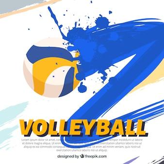 Volleybal bewerkbare wallpaper