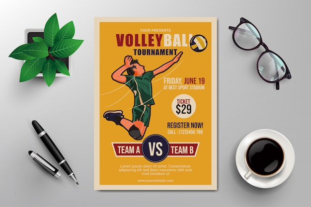 Volleybal flyer