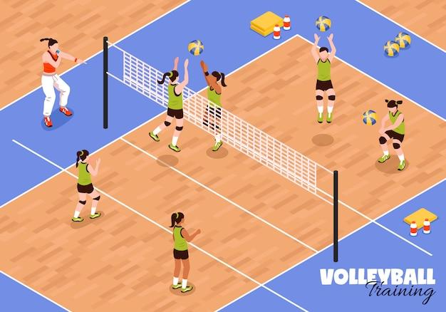 Volleybal kids team achtergrond