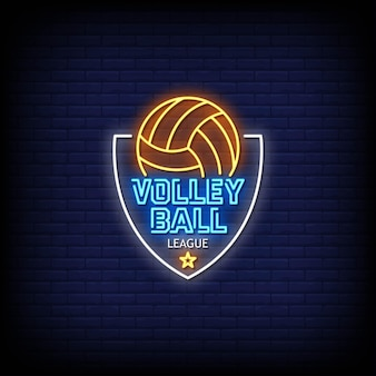 Volleybal league logo neonreclames
