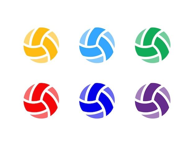 Volleybal logo ontwerpconcept
