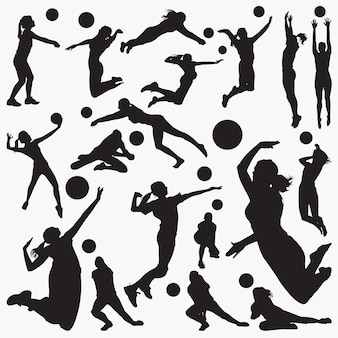 Volleybal silhouetten