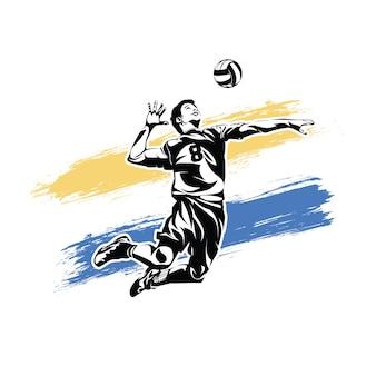 Volleybal smash sjabloon